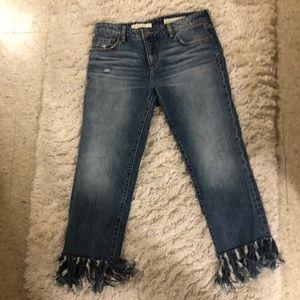 NWOT Anthropologie Fringe Jeans Pilcro size 28